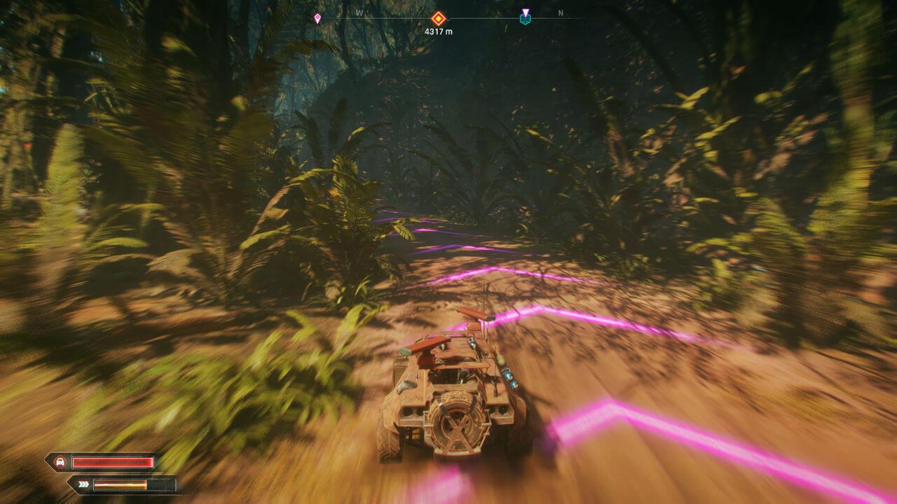 Fahren im Dschungel in Rage 2