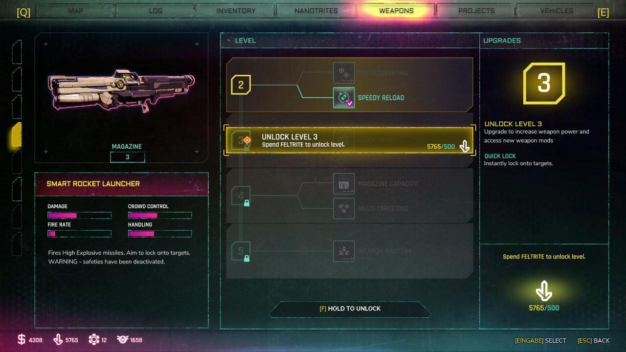Waffen Upgrade