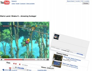 Wario Video zerstört Youtube - Gute Werbung